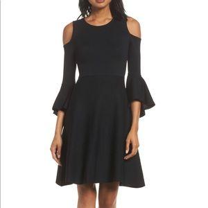 🆕 Eliza J Cold Shoulder Fit & Flare Dress